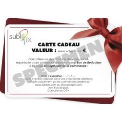 Carte cadeau de 50 à 500 €