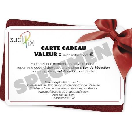 Carte cadeau SubliPix