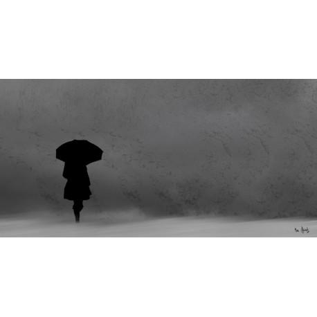 Femme au parapluie © Max Parisot du Lyaumont