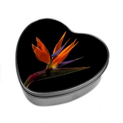 Boîte forme cœur Fleur africaine