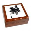 Boîte à bijoux Cygne noir