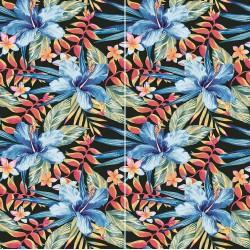 Carrelage sol et mur en grès cérame émaillé Motif Sauvage Hibiscus
