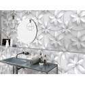 Carrelage sol et mur en grès cérame motif 3D Fleur Tropicale