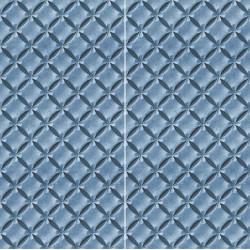 Carrelage sol et mur en grès cérame émaillé Motif 3D Fleur Bleue