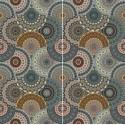Carrelage sol et mur en grès cérame émaillé Motif Mandala