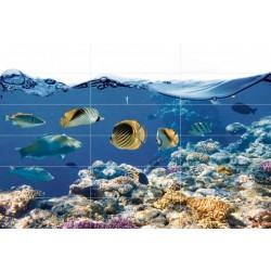 Carrelage mural en faïence fresque Aquatic