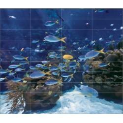 Carrelage mural en faïence Fresque Atlantis