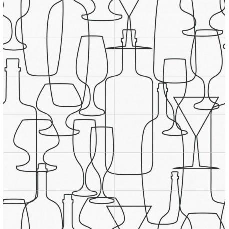 Carrelage mural en faïence Fresque Wine