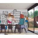 Carrelage mural en faïence Fresque Cosmopolis