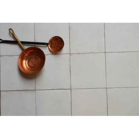 Carrelage sol et mur en grès cérame émaillé motif Epoque Blanc