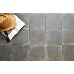Carrelage sol et mur en grès cérame émaillé motif Epoque Noir