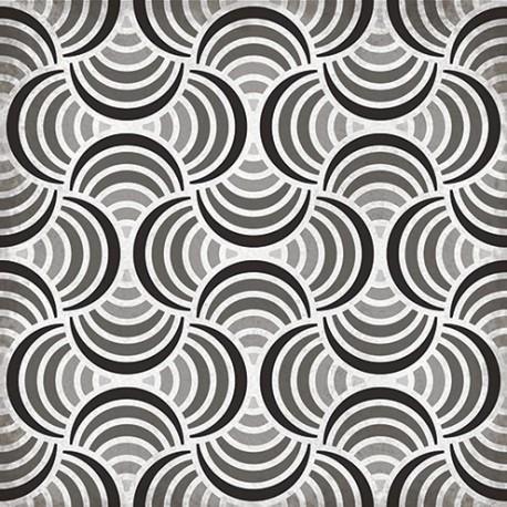 Carrelage sol et mur en grès cérame émaillé motif Retro 4